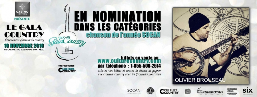 Nomination au Gala Country 2016